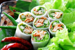 Summer Spring Rolls with Dipping Sauce